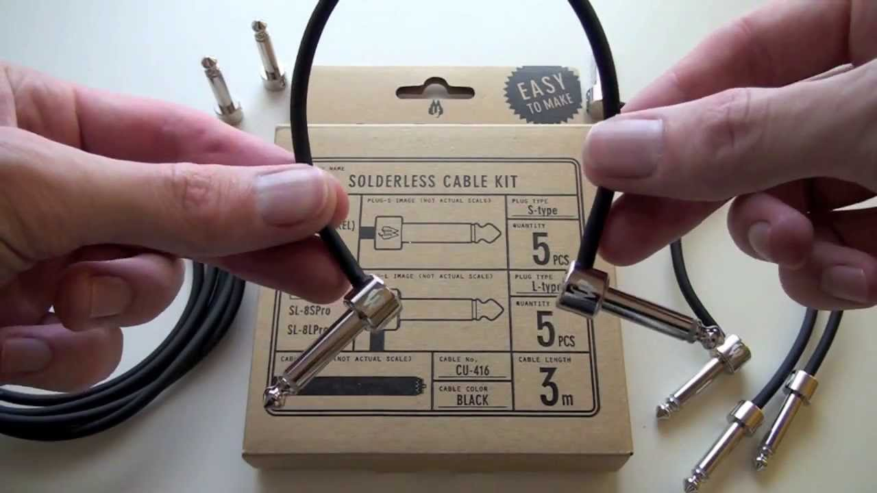 pedalboard patch cable kit