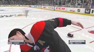NHL 13 Be A Pro My Team Hockey Fight - I Fight A Girl NHL 13 Xbox 360 Gameplay