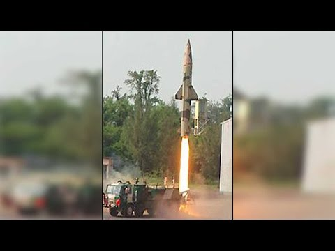 Prithvi-II missile successfully test fired by India