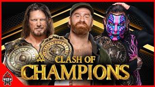 WWE JEFF HARDY VS AJ STYLES VS SAMI ZAYN - CLASH OF CHAMPIONS