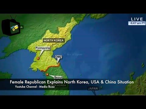 Female Republican Explains North Korea USA and China Situation Like a Boss 8/9/17
