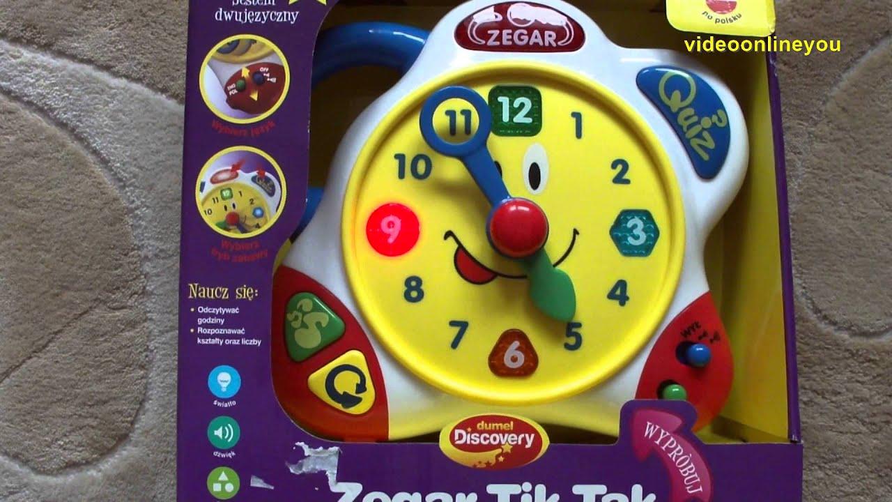 dumel   zegar do nauki dla dziecka zabawka edukacyjna   youtube