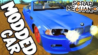 Scrap Mechanic - MODDED CAR CHALLENGE! - [#49] | Gameplay
