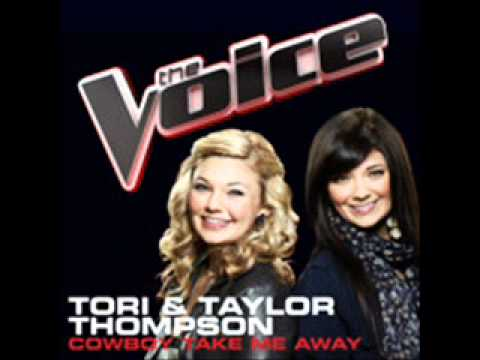 The Voice - Tori and Taylor Thompson - Cowboy Take Me Away(Studio Recording)