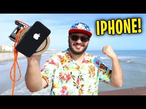 ENCONTREI UM IPHONE NA PRAIA !! ( PESCA MAGNÉTICA )