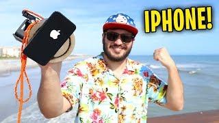 ENCONTREI UM IPHONE NA PRAIA !! ( PESCA MAGNÉTICA - ÁREA SECRETA )