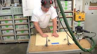 Building Kitchen Cabinets Part 2  Routing The Back Panel Dados.