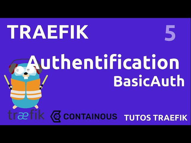 TRAEFIK - 5. AUTHENTIFICATION BASICAUTH : SIMPLE MOT DE PASSE