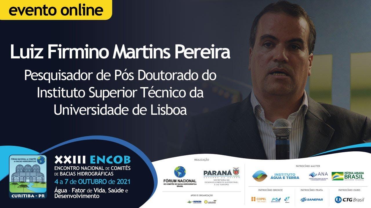 Luiz Firmino destaca a temática da Gestão das Águas Costeiras nas Regiões Metropolitanas no ENCOB
