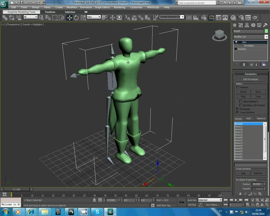 3D Studio Max - Tutorial Ossos   Animação - YouTube