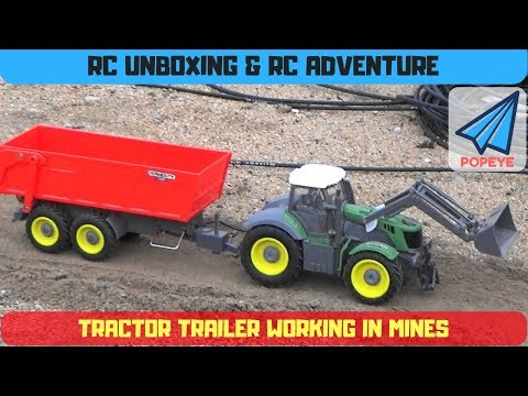 RC Tractor Trailer working in mines | Unboxing and RC adventure with NINCO Tractor | RC with Popeye