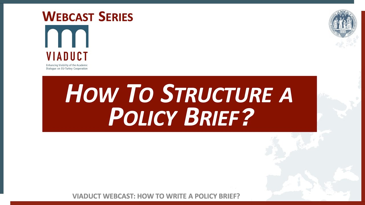 How to structure a Policy Brief?