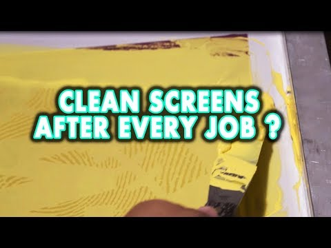 Clean Screens after EVERY Job?