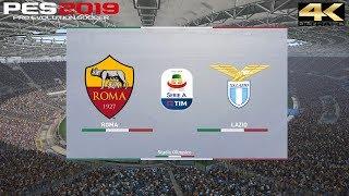 PES 2019 (PC) Roma vs Lazio   SERIE A PREDICTION   29/9/2018   4K 60FPS