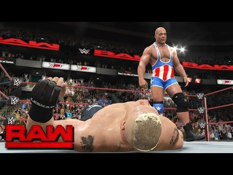 WWE 2K17 Story - Brock Lesnar Inducts Kurt Angle into Beast Unlimited? (RAW 2017)