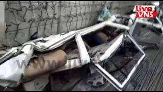 Varanasi Big News : निर्माणाधीन फ्लाईओवर का पिलर गिरा, कइयों के दबने की आशंका