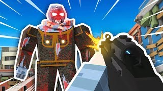 MEGA ZOMBIE BOSS DESTROYS CITY (The Walking Zombie: Dead City Funny Gameplay)