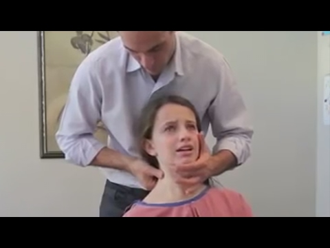 Dr. Ian - Young Girl has ACUTE NECK PAIN - FIXED by Gonstead Chiropractic