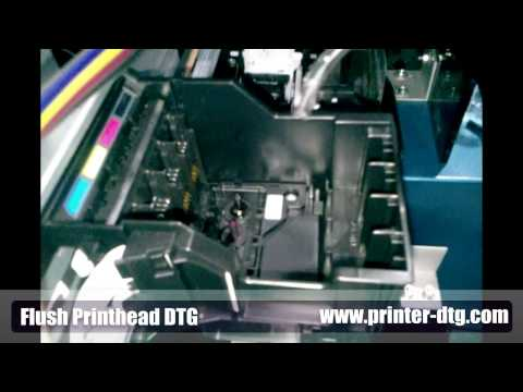 How To Flush DTG Printer Printhead