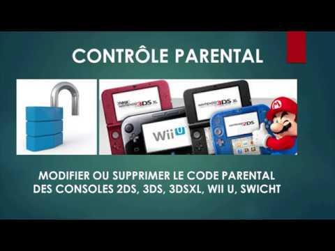 Débloquer Controle parental 2DS/3DS DSI WII U  SWICHT code general