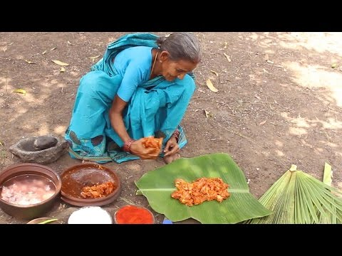 Chicken Cooked in Tender Palm Leaf by my Grandma in Village Style || Myna Street Food