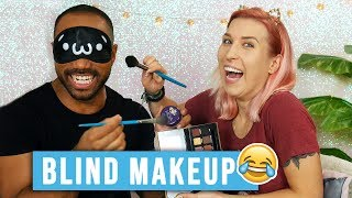 ♦ BLIND/ NO MIRROR makeup challenge z Harrym!  ♦ Agnieszka Grzelak Beauty