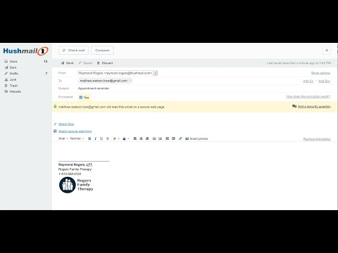 How do Hushmail's encrypted email and forms work