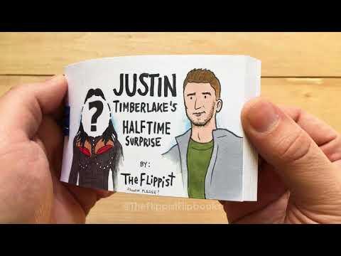 Justin Timberlake's Halftime Surprise (a flipbook)