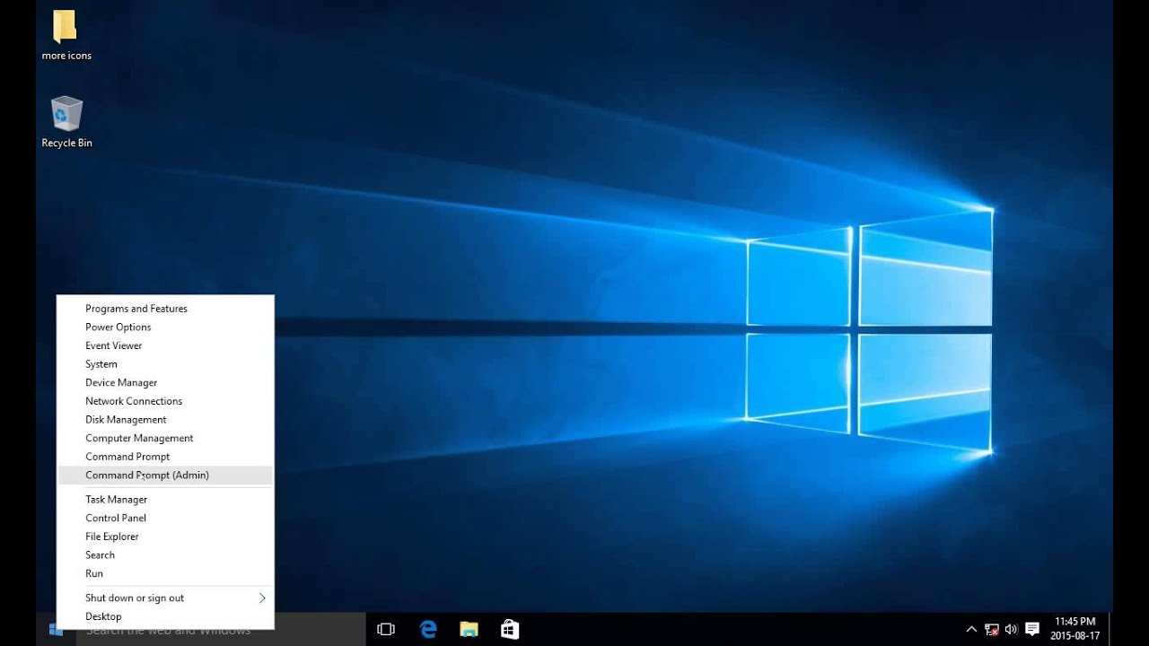 admin command prompt windows 10