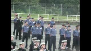 Royal Navy Passing Out Parade at HMS Raleigh 2012