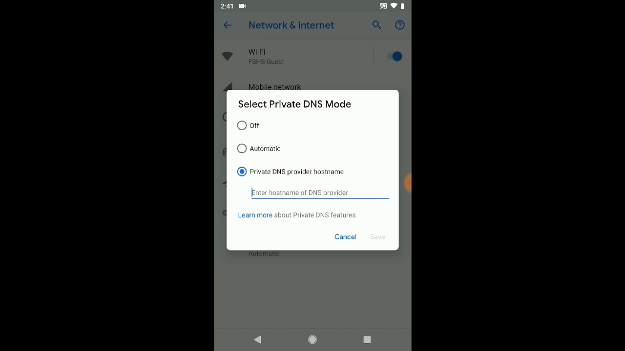 How to setup AdGuard DNS on Android P