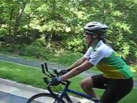 Bia Pares cycling Rock Creek Park - Washington DC
