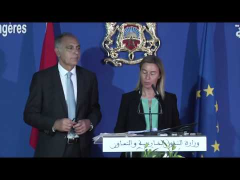 Federica MOGHERINI with Salaheddine MEZOUAR, Moroccan Minister for Foreign Affairs and Cooperation