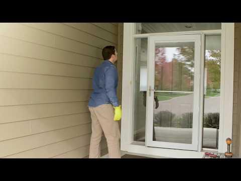 Installing Storm Door Rapid Install 1 System With SmoothControlPlus   Andersen Windows