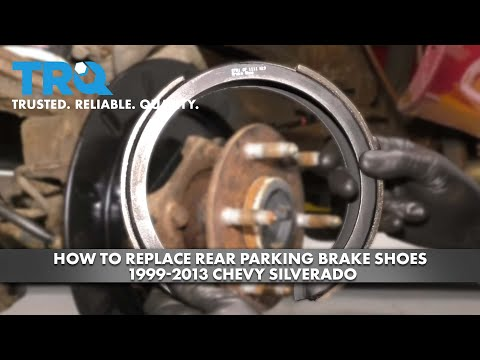 How to Replace Rear Parking Brake Shoes 1999-13 Chevy Silverado