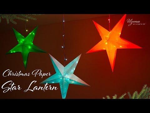 DIY Christmas Star Lantern | Christmas Paper Star | 3D Star