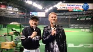 14/05/04 マハトマパンチ 札幌ドームから中継 始球式前のインタビュー.