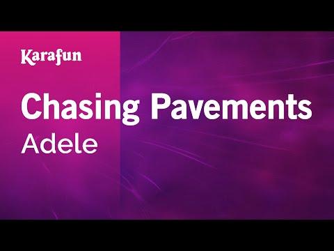 Karaoke Chasing Pavements - Adele *