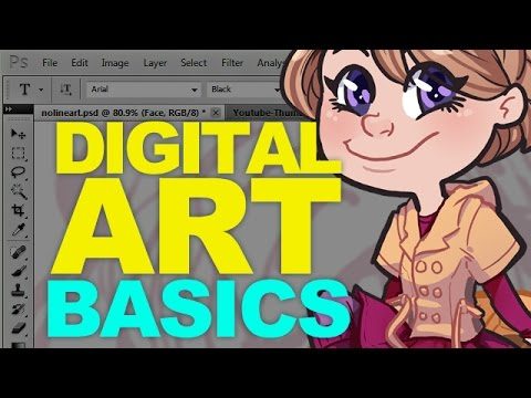 Digital Art for Beginners [Photoshop CS5]  - DrawingWiffWaffles