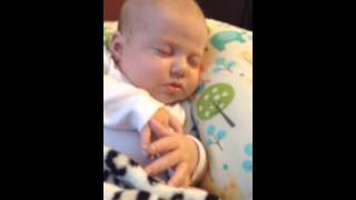 2-month old baby snoring away!!