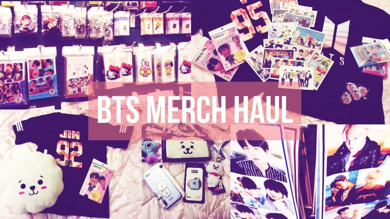 Bts Merch Haul Kpop Store Haul Bts Bt21 Official And Unofficial Youtube