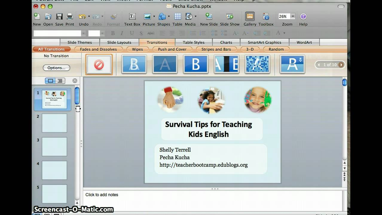 How to set powerpoint timings youtube for Pecha kucha template powerpoint