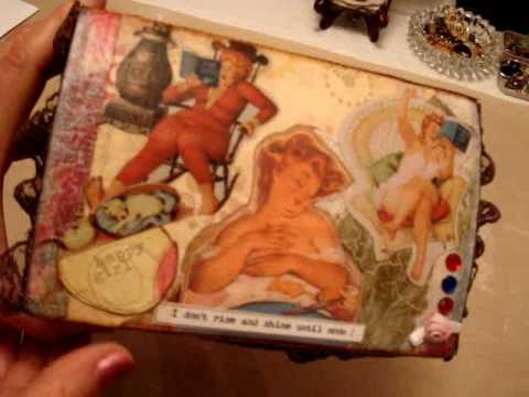 craft mat from ebay and decoupaged wooden box project.wmv