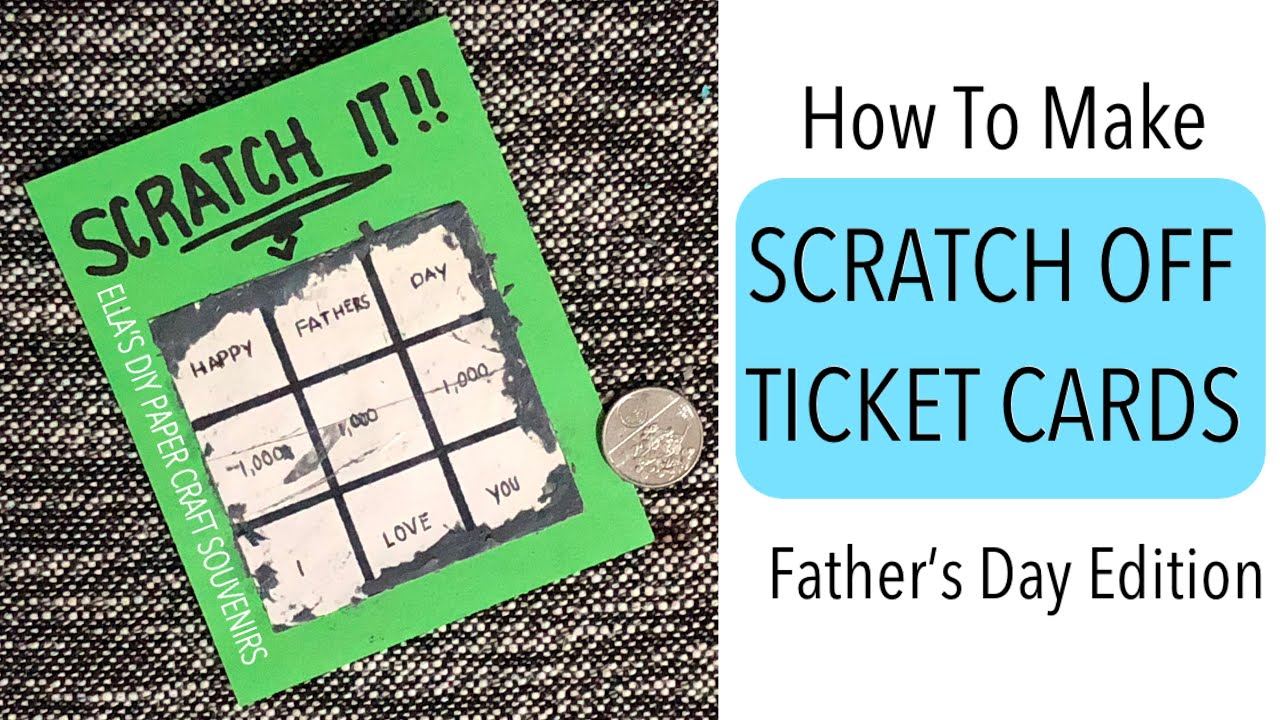 scratch off tickets  scratch off cards diy  how to make