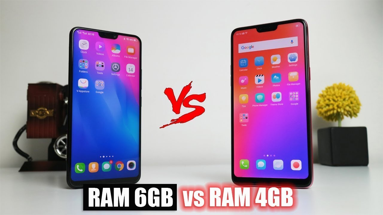 Vivo V9 Ram 6gb Vs Oppo F7 Ram 4gb Youtube