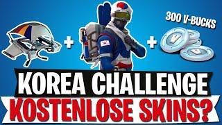 Free Skins & V-Bucks? Korea Challenge - All info | Fortnite Battle Royale
