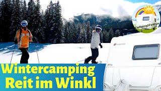 WINTERCAMPING mit Wohnwagen ⛄️ ❄️Skiurlaub in Reit im Winkl/Campingplatzdoku #Vlog11