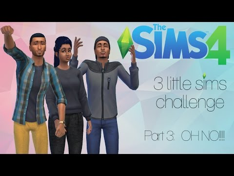 The Sims 4: 3 Little Sims Challenge | Part 3| OH NO!! South Africa