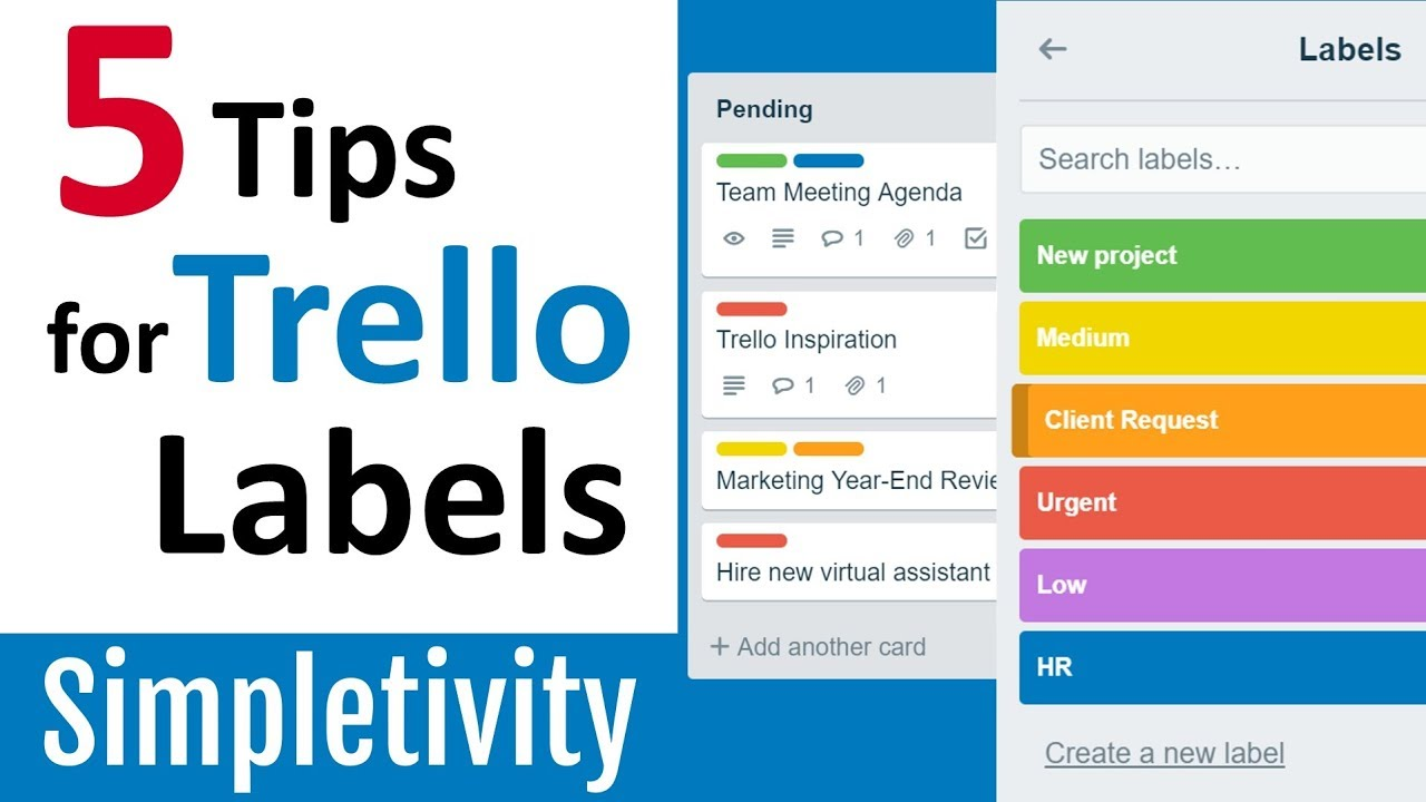 5 Trello Label Tips That Will Make You Look Like A Pro Youtube