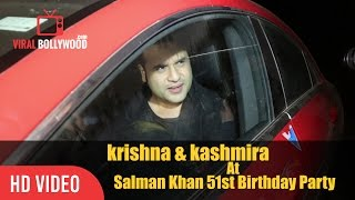 Krishna Abhishek And Kashmira Shah At Salman Khan 51st Birthday Party | Happy Birthday Salman Khan